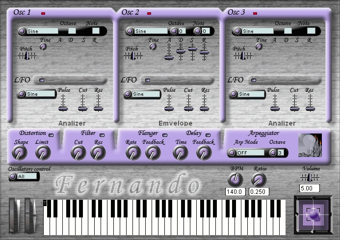 Fernando VSTi Subtractive Synthesizer